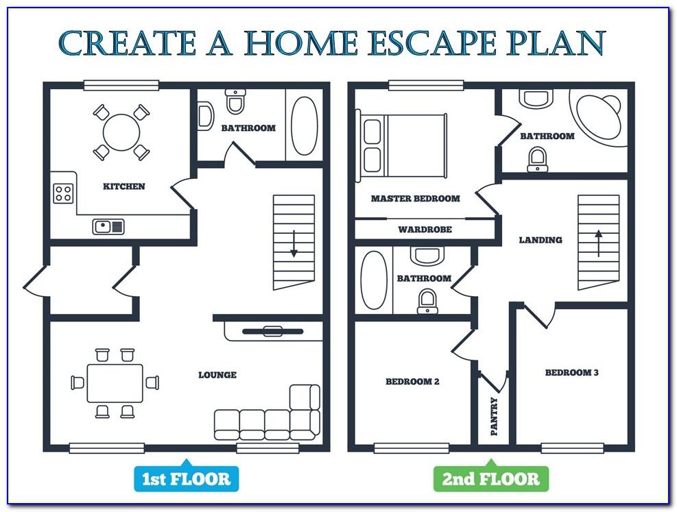 Home Fire Escape Plan Template