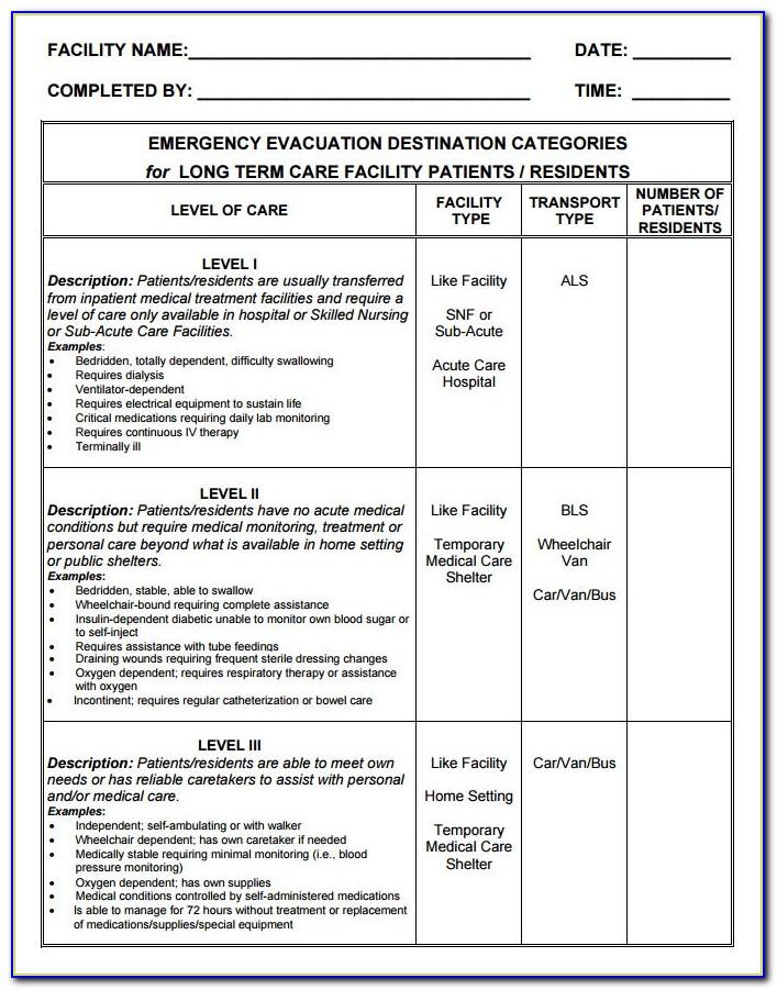 Home Fire Evacuation Plan Example