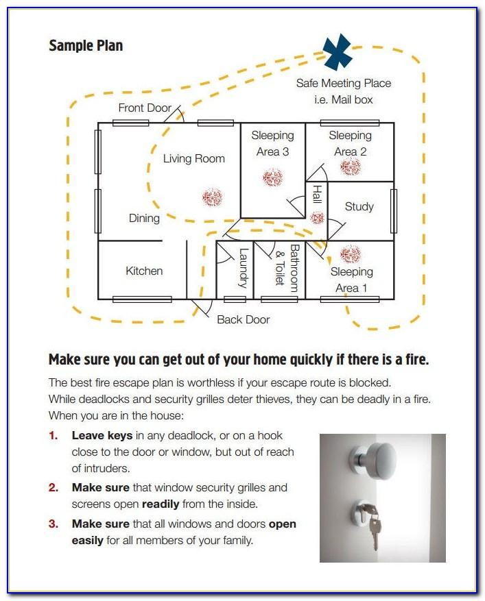 Home Fire Evacuation Plan Sample