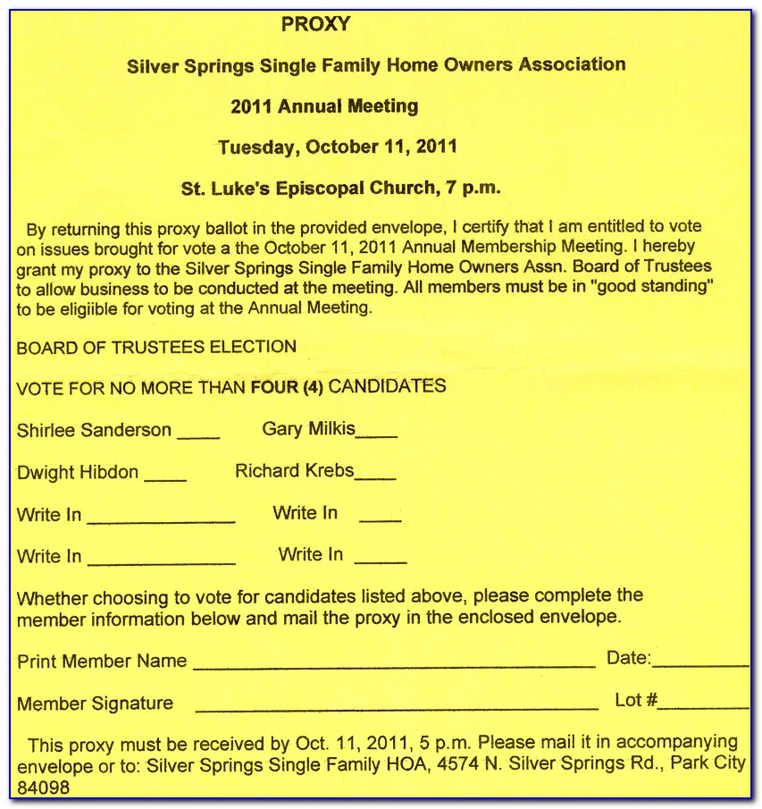 Homeowners Association Sample Letters