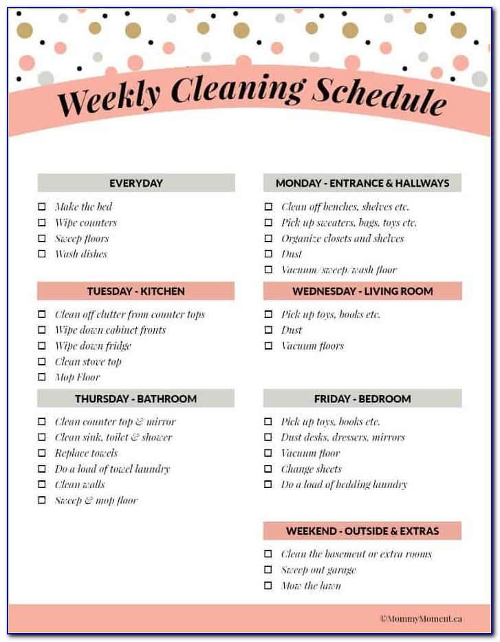 House Cleaning Service Agreement Form
