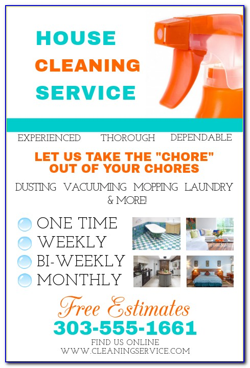 House Cleaning Service Flyer Examples