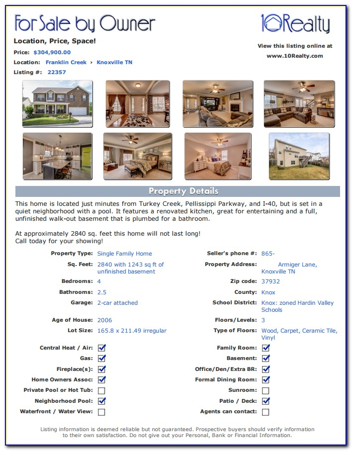 House For Sale By Owner Flyer Template