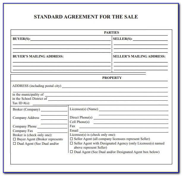 House Sale Agreement Template South Africa