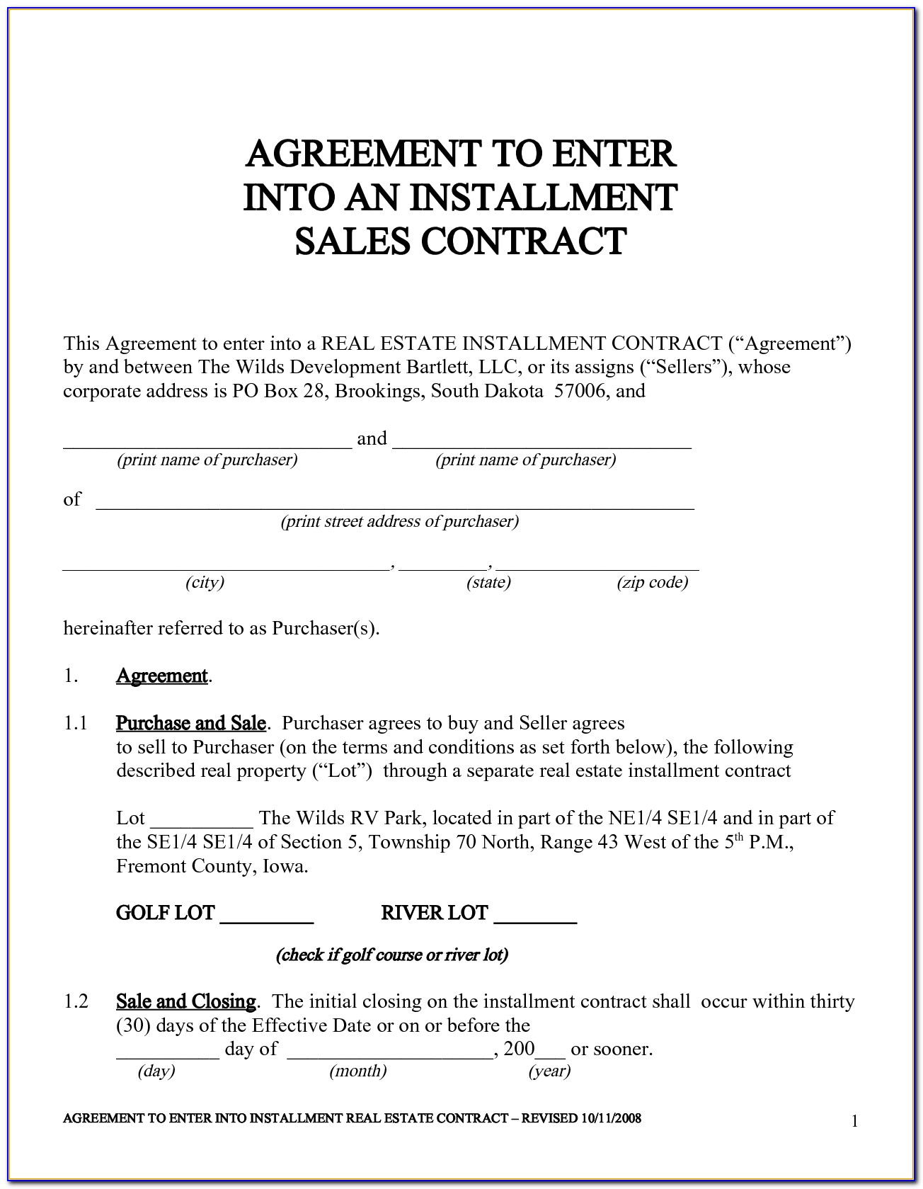 House Sale Agreement Template Uk