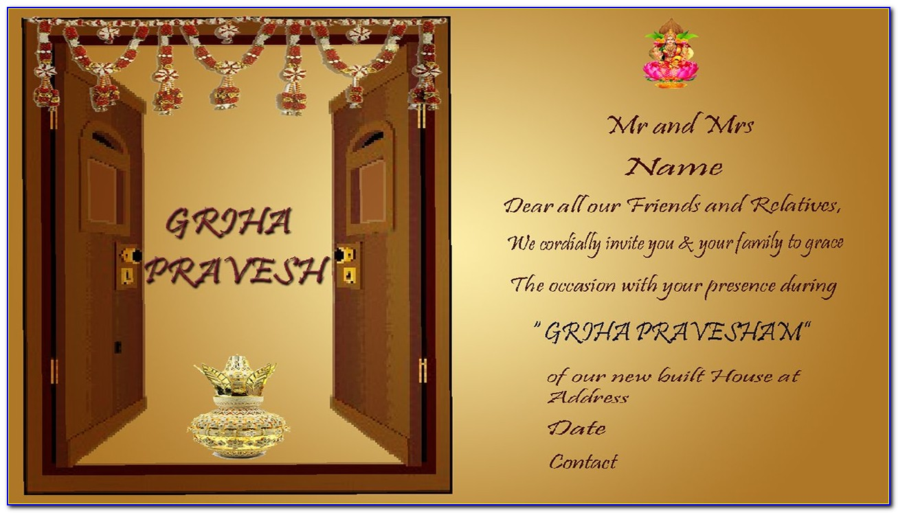 House Warming Invitation Card Maker Online Free