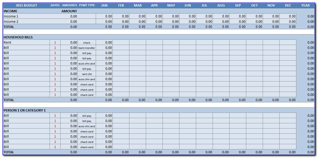 Household Budget Template Excel India