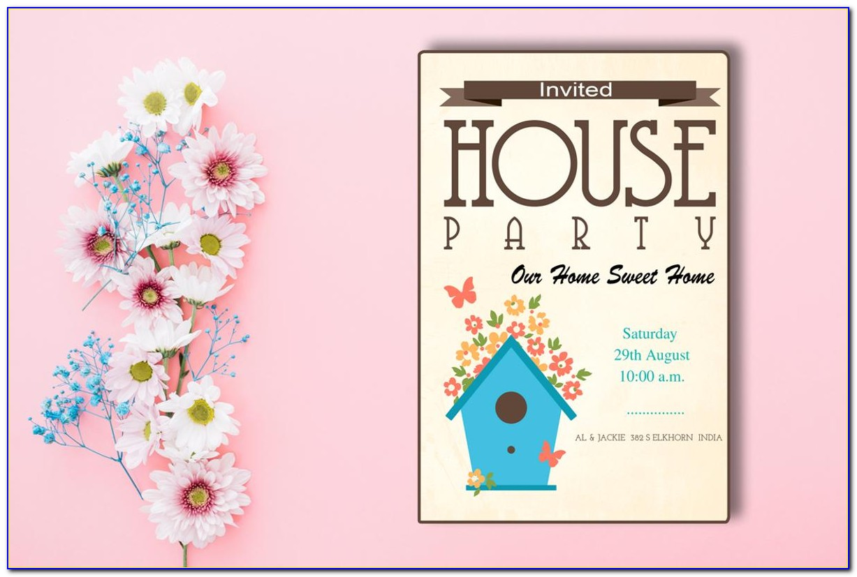 Housewarming Invitation Template India Free