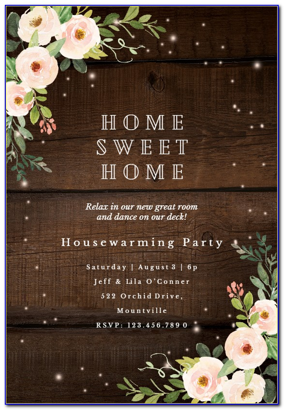 Housewarming Invitation Template Microsoft Word Free
