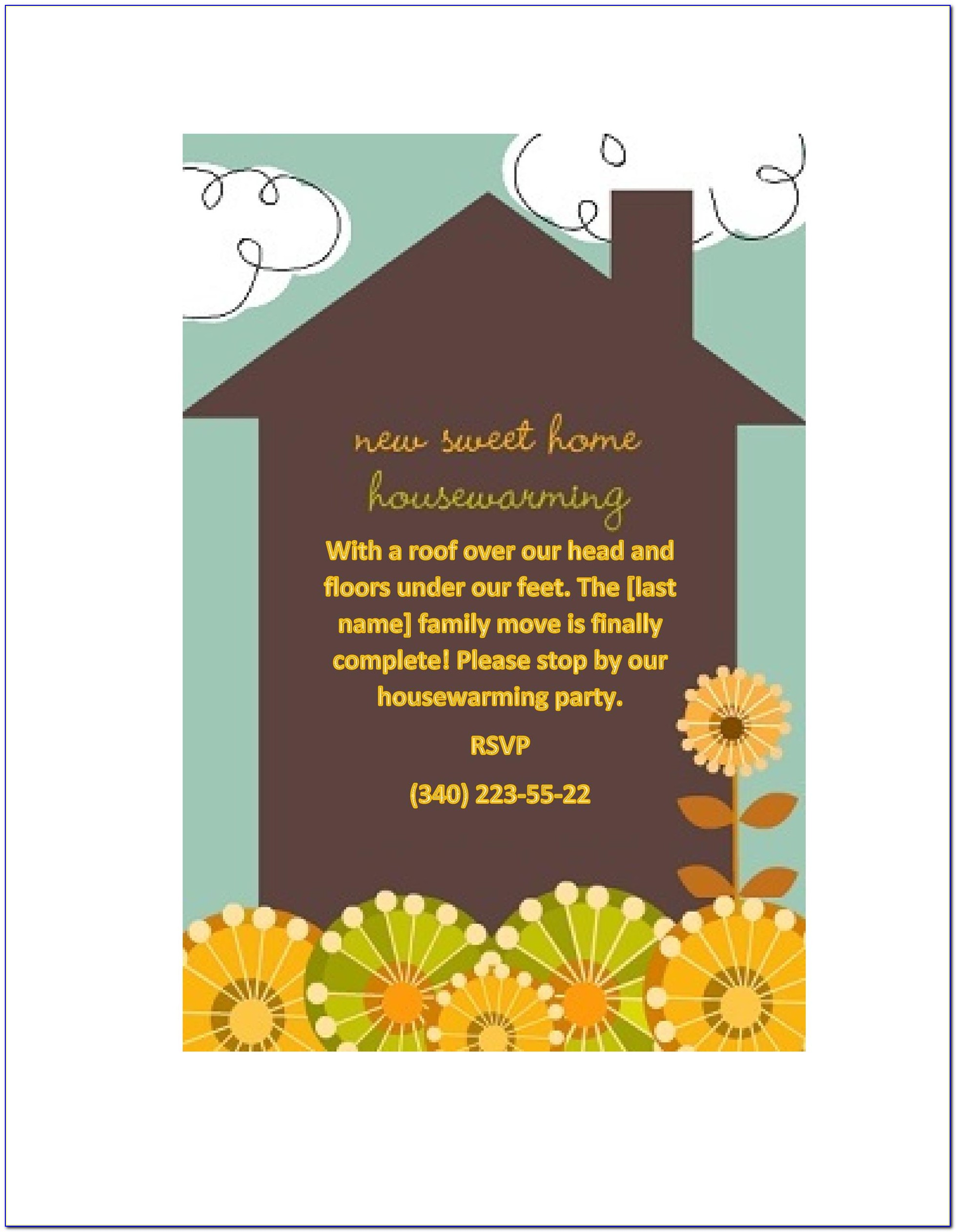 Housewarming Invitation Templates Psd