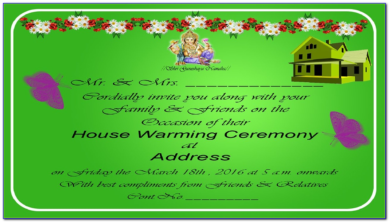 Housewarming Party Invitation Template Word