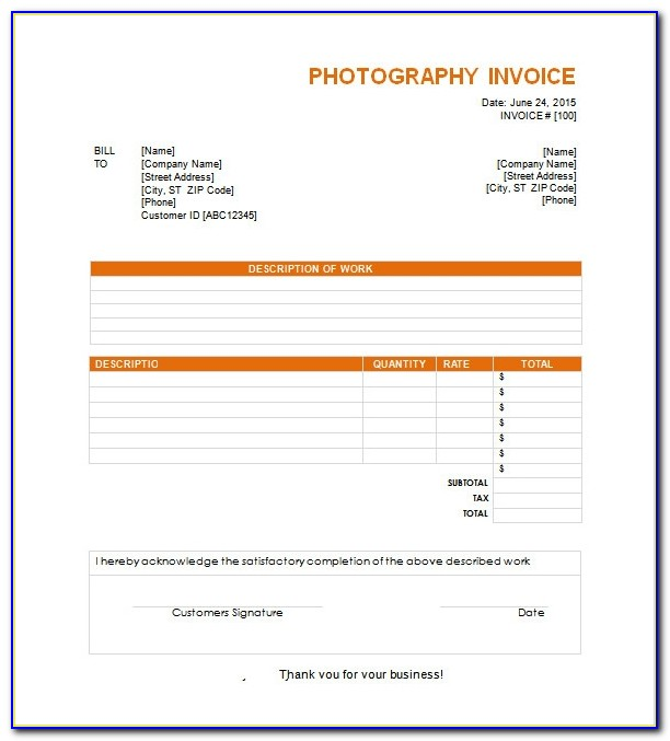 How To Create An Invoice Template In Excel 2013
