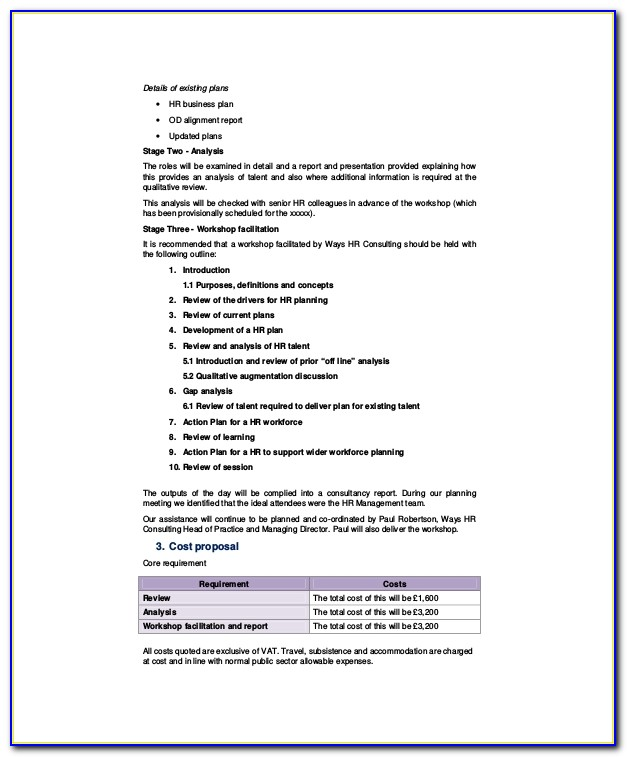Hr Consulting Services Proposal Template