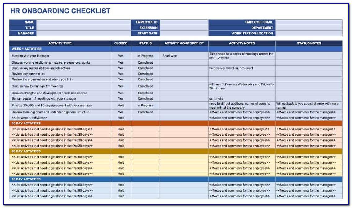 Hr Onboarding Process Checklist