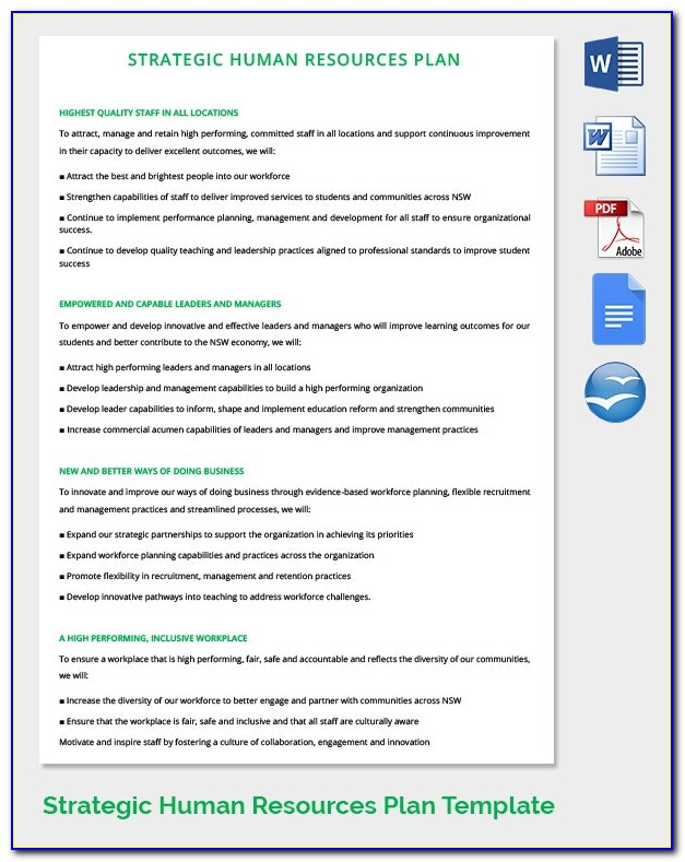 Hr Strategic Plan Format