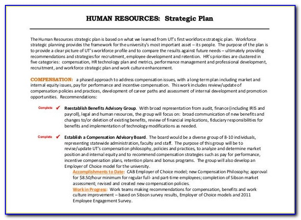 Hr Strategic Planning Project Scope Statement Template