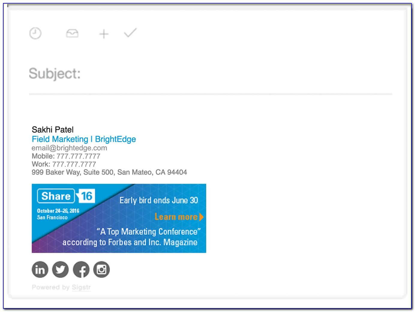 Html Email Signature Design Free