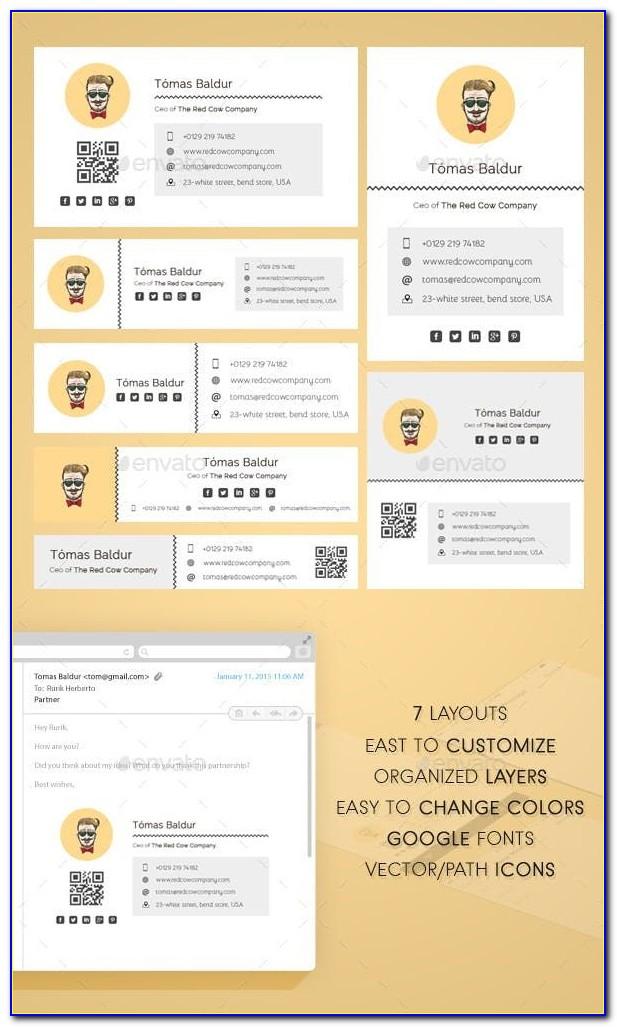 Html Email Signature Template Dreamweaver