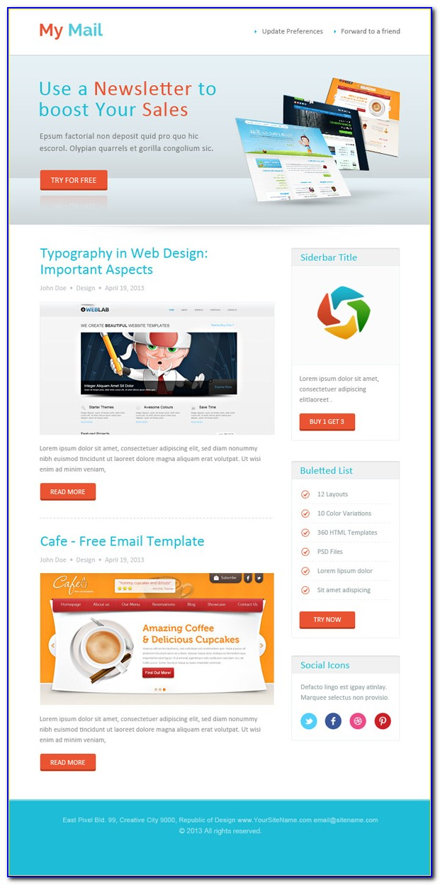 Html Newsletter Template Outlook 2010