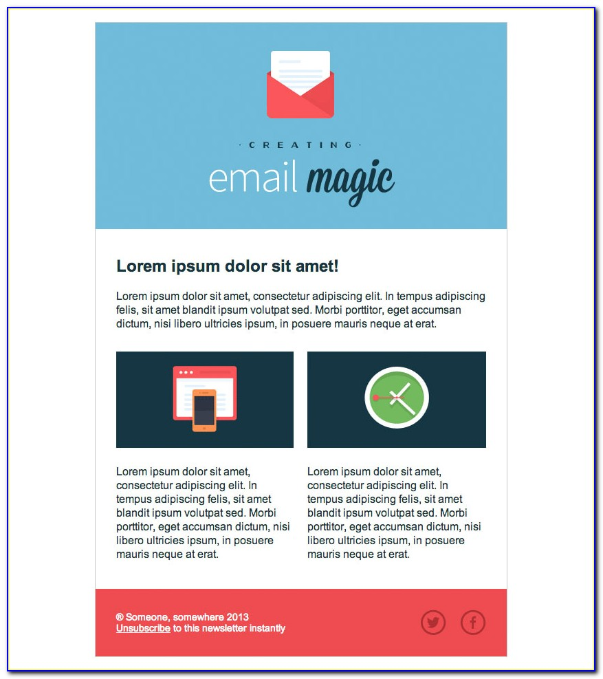Html Templates For Mailchimp