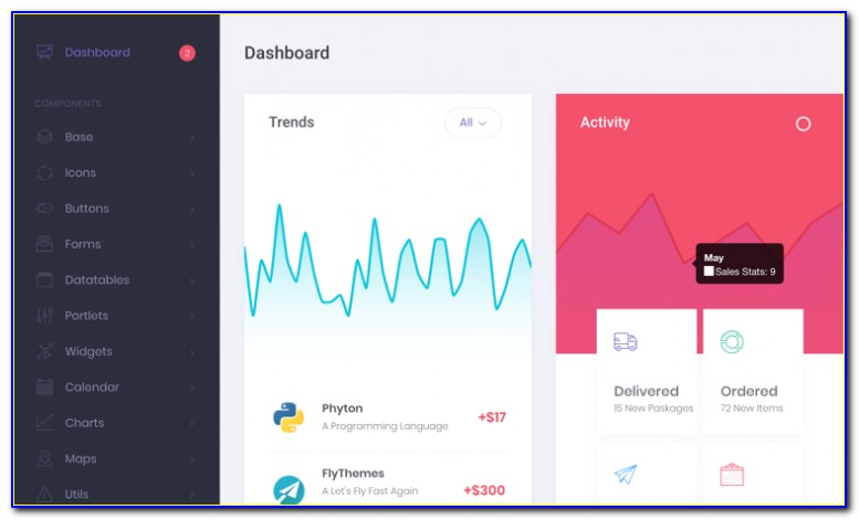 Html5 Bootstrap Dashboard Templates Free