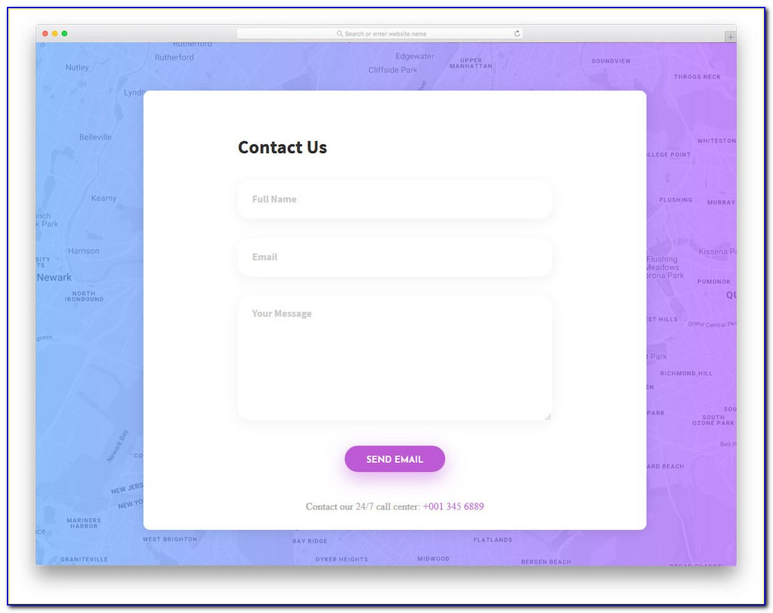 Html5 Css3 Contact Form Template