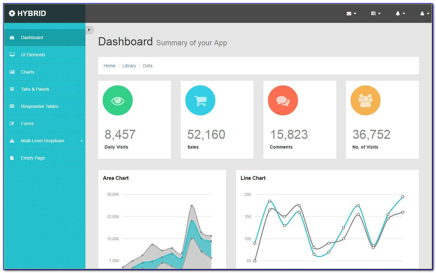 Html5 Dashboard Template Free