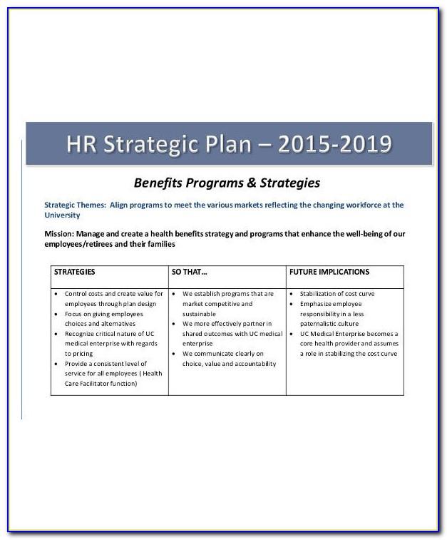 Human Resource Strategic Plan Example