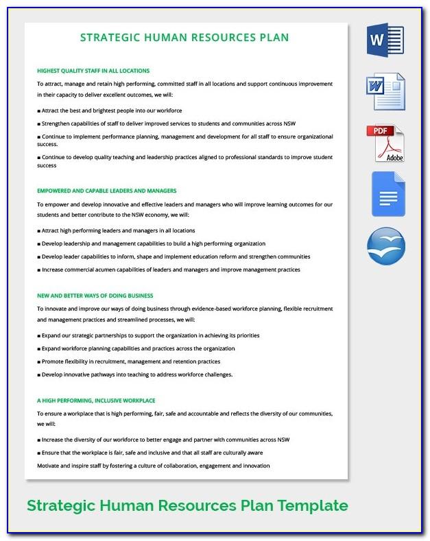 Human Resource Strategic Plan Sample