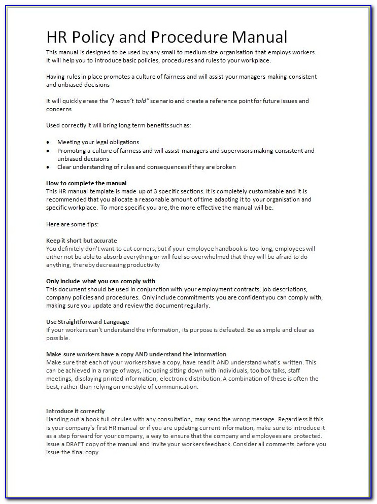 Human Resources Resume Template Word