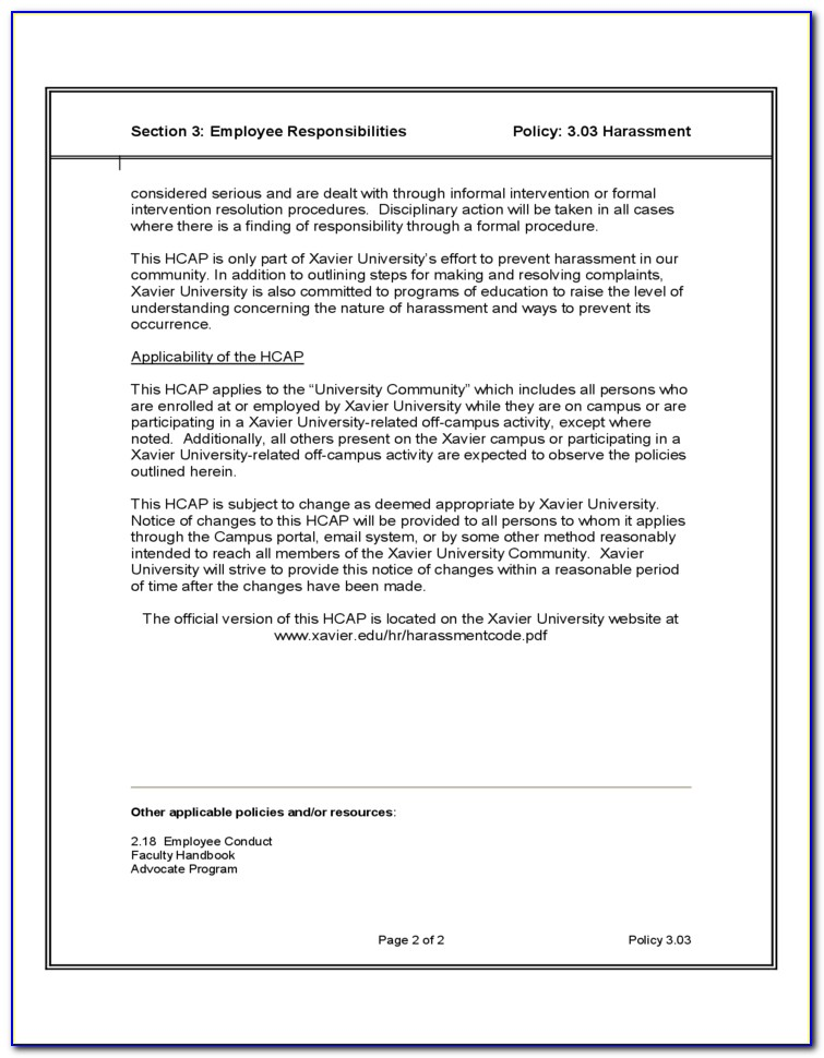 Human Resources Standard Operating Procedure Template