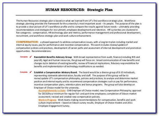 Human Resources Strategic Plan Example
