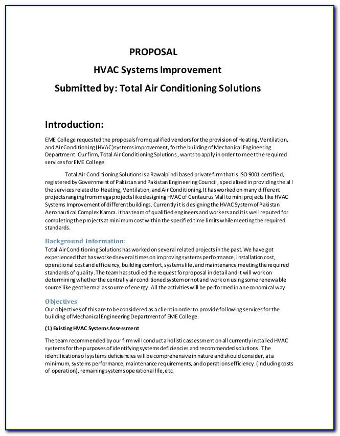 Hvac Estimate Template Free Downloads