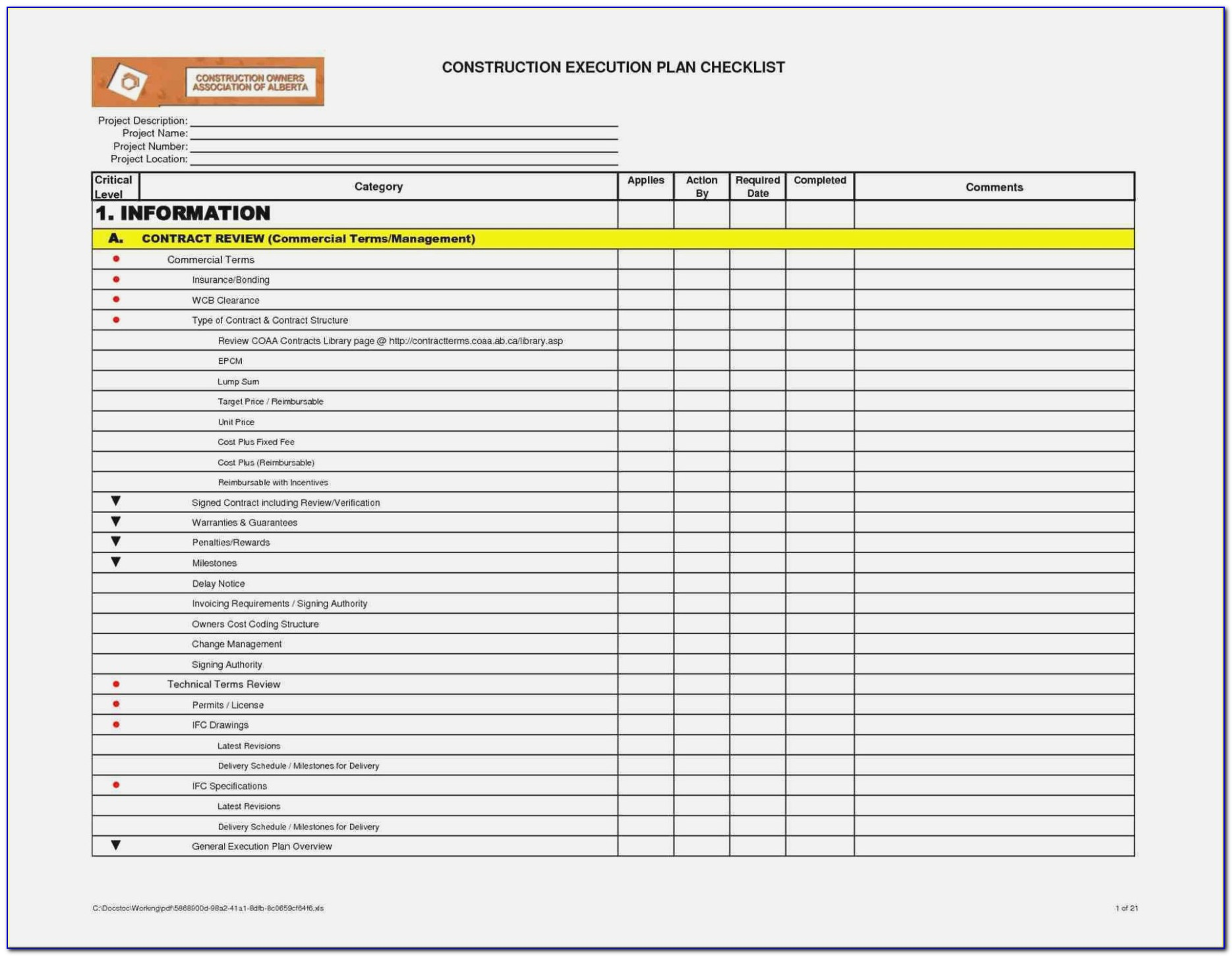 Hvac Preventive Maintenance Checklist Template