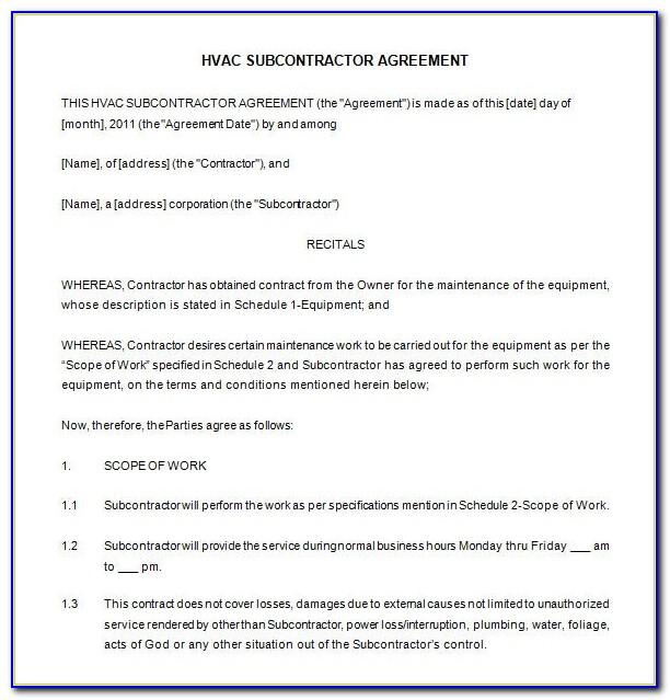 Hvac Service Order Invoice Forms