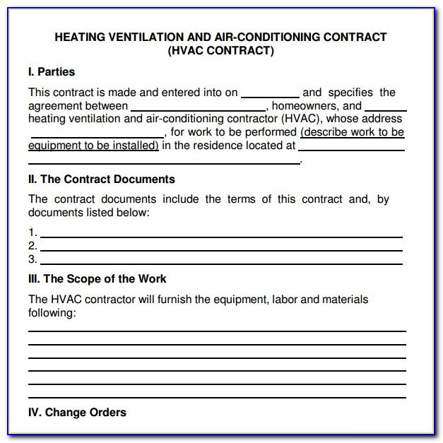 Hvac Service Quote Template