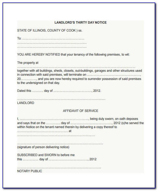 Illinois Eviction Notice Pdf