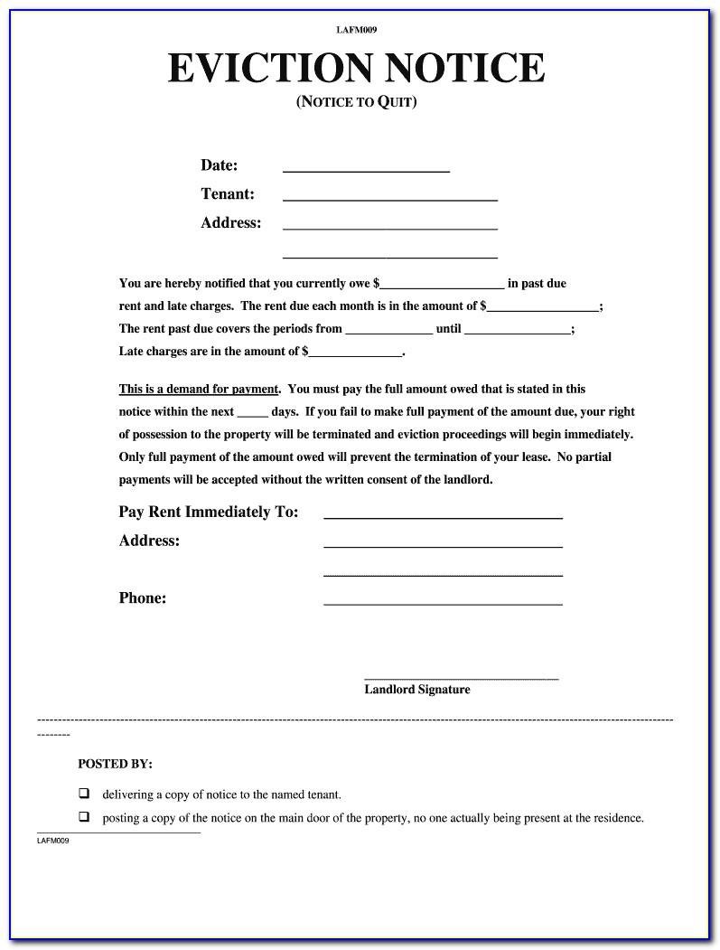 Illinois Eviction Notice Sample