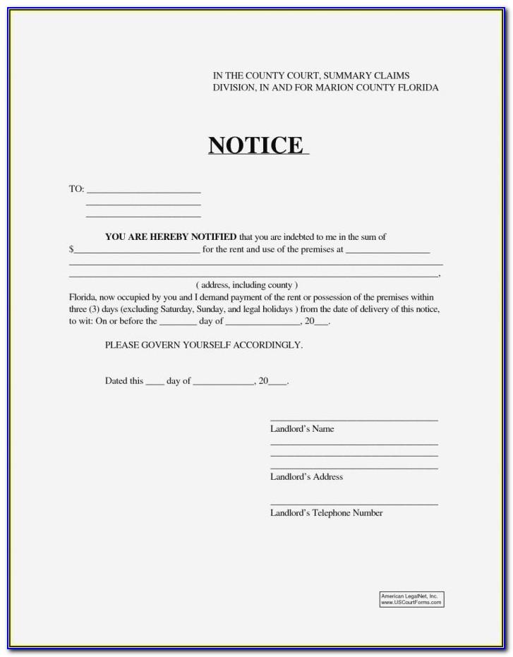 Illinois Eviction Notice Template