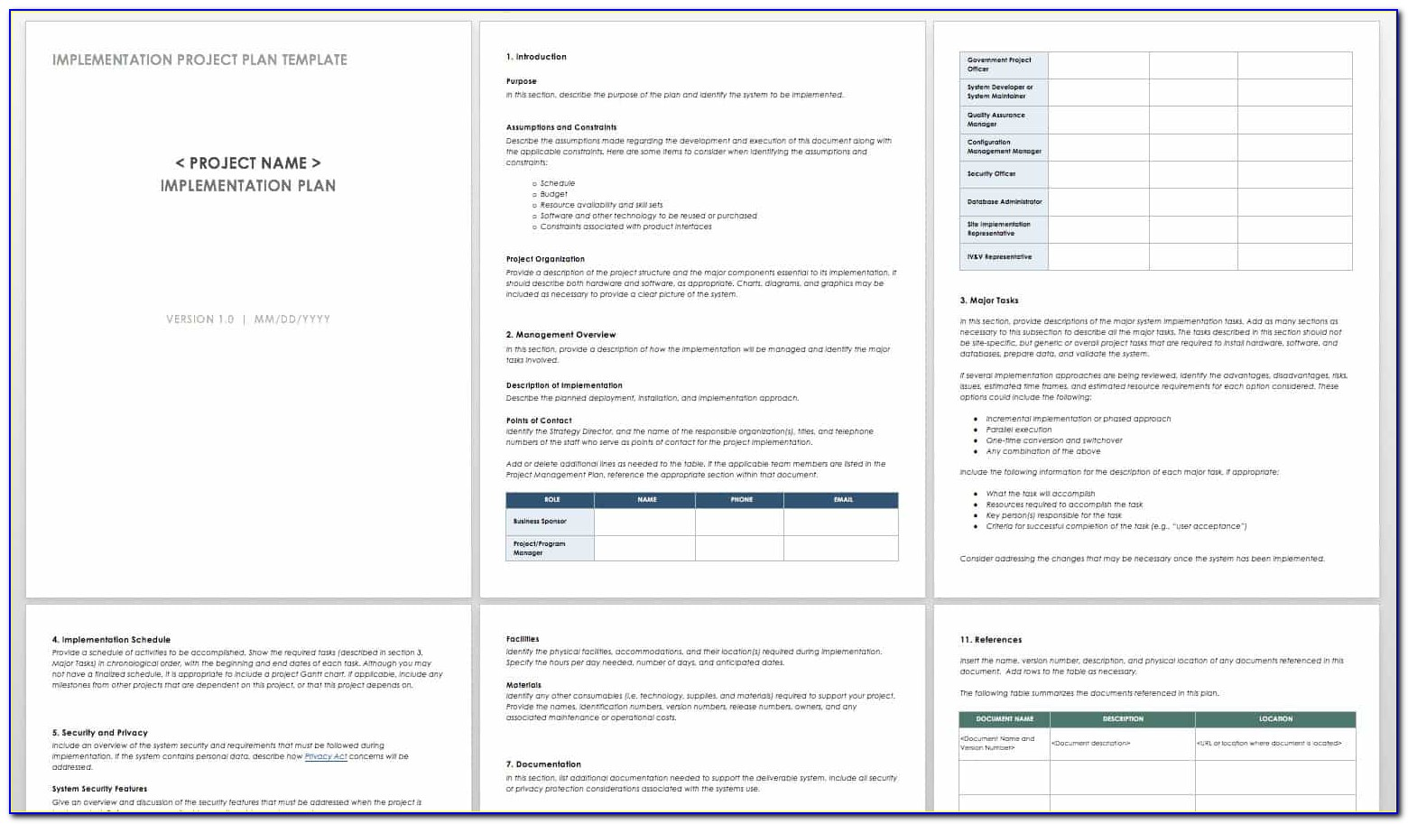 Implementation Plan Template Nhs