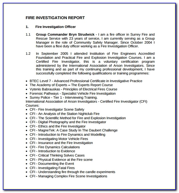 Incident Investigation Report Template Nz