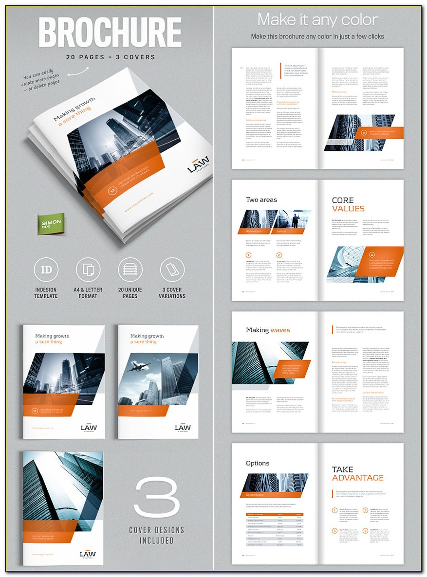 Indesign Corporate Brochure Templates Free