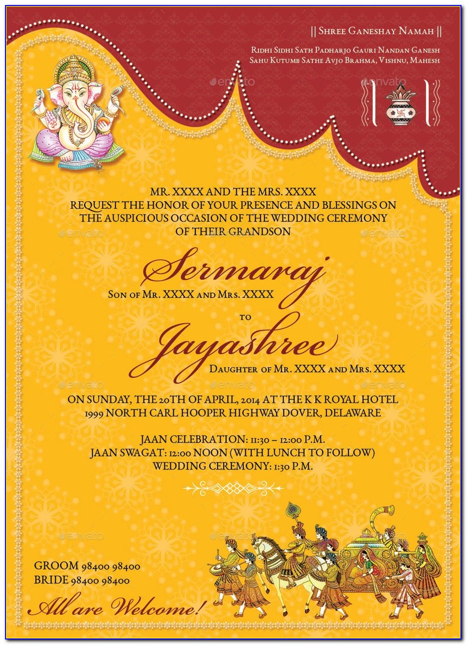 Indian Hindu Wedding Invitation Video Templates Free Download