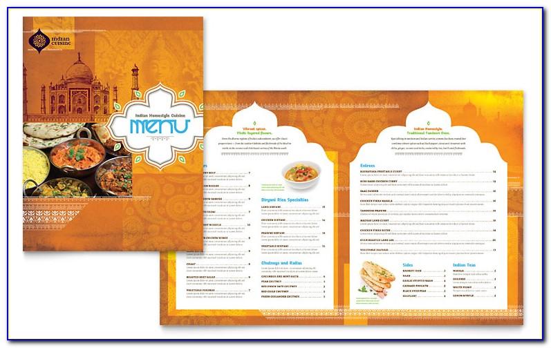 Indian Restaurant Menu Format