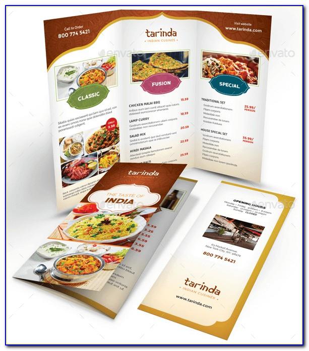 Indian Restaurant Menu Sample