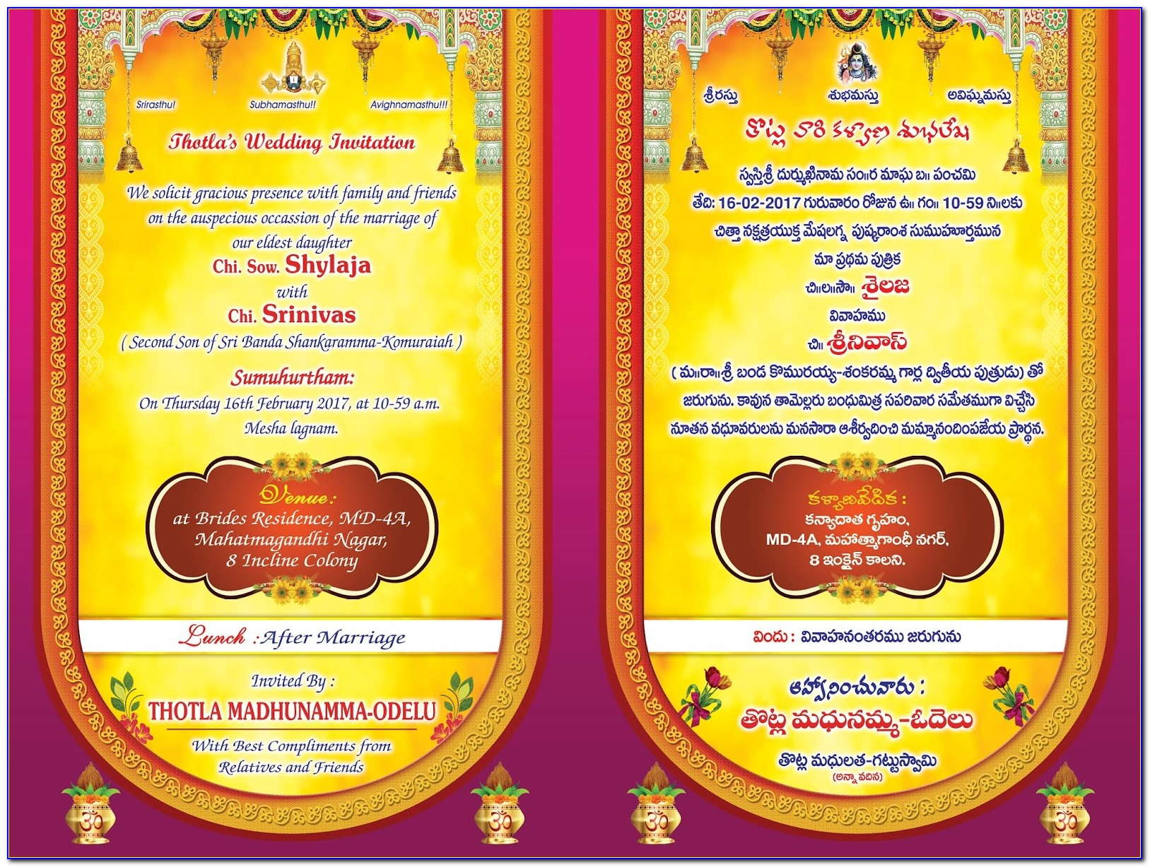 Indian Wedding Invitation Templates Psd Free Download