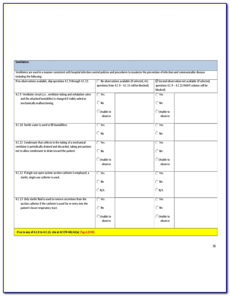 Infection Control Risk Assessment Form 2010