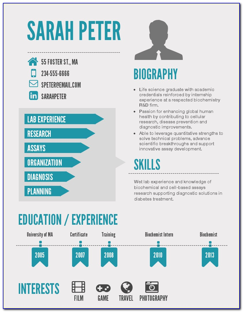 Infographic Cv Template Pdf