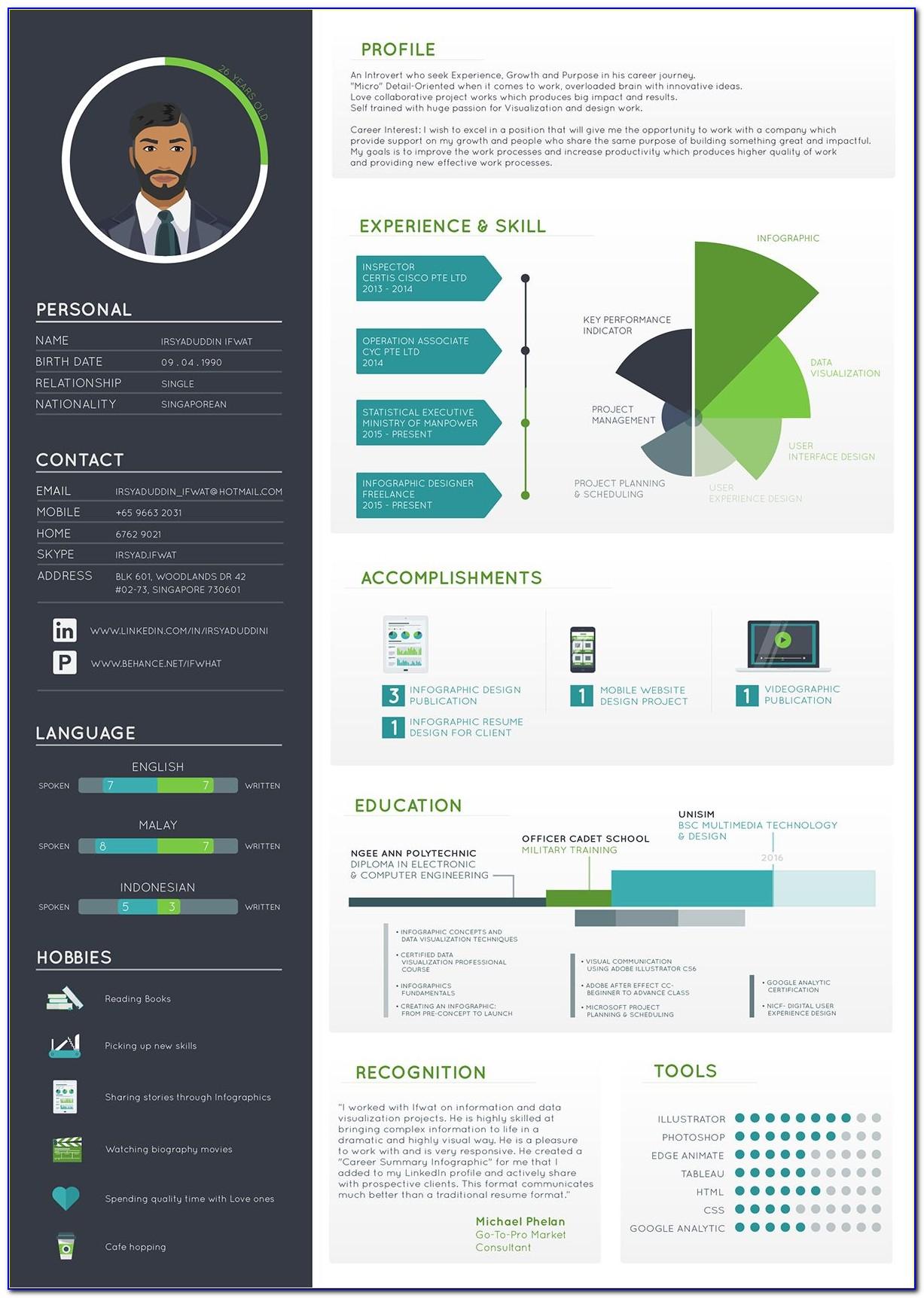 Infographic Cv Template Psd