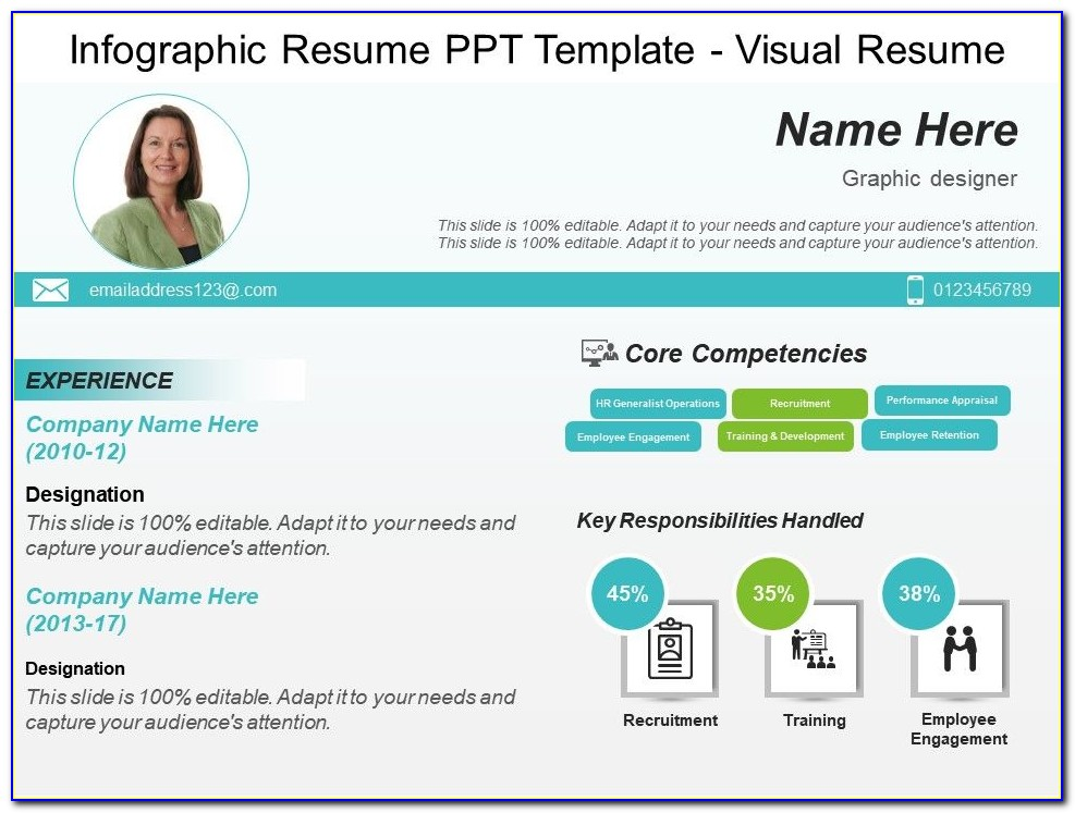 Infographic Resume Template Indesign